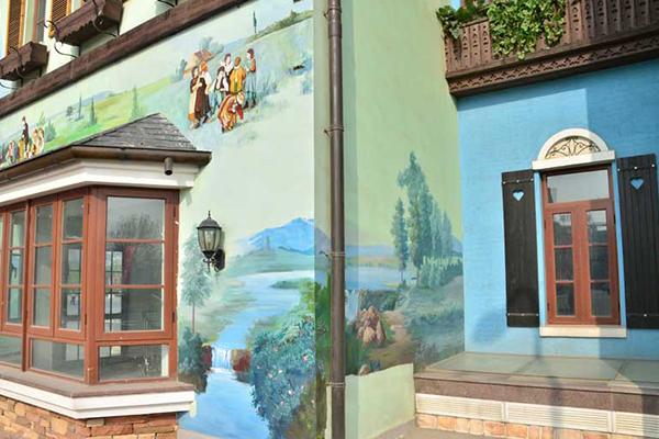 小镇墙绘3