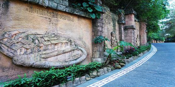 雕塑文化墙