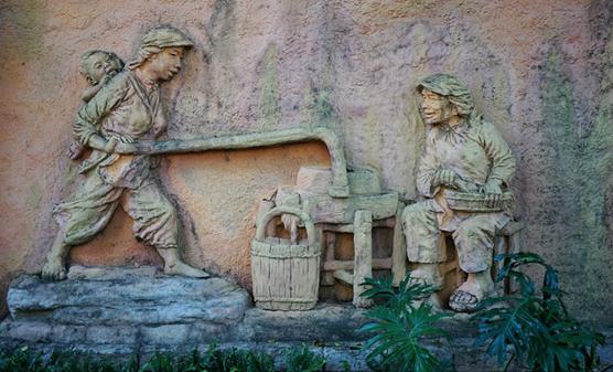 文化雕塑墙