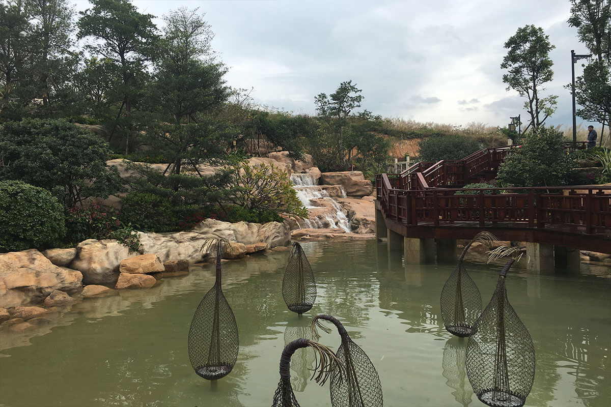 从都二期水景瀑布景观工程