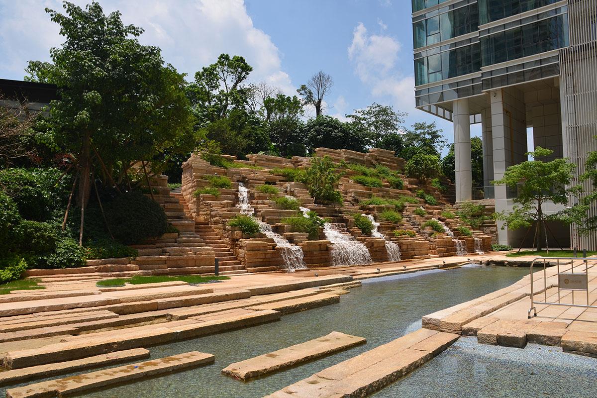 广州汇悦台叠水景观